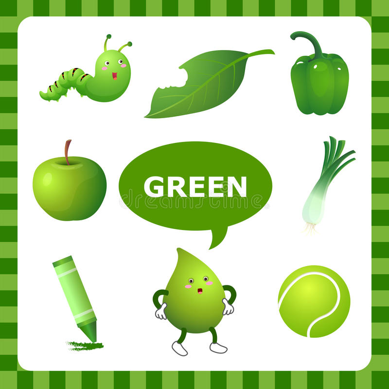 learning green color stock vector image 54710831 crayon vectoriel crayon vectoriel
