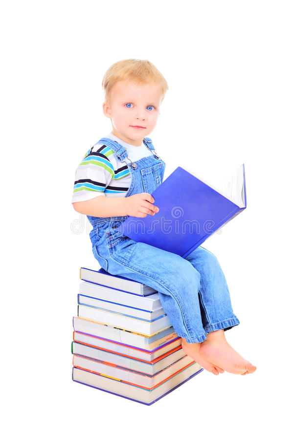 Download Learning how to read stock image. Image of adorable, little - 18739945