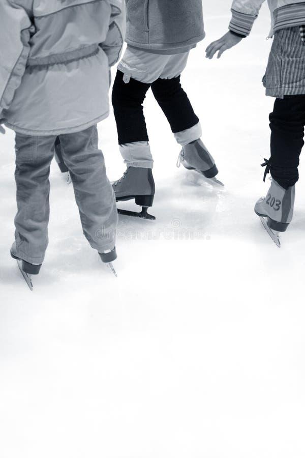 Learning Ice-skating Royalty Free Stock Photos