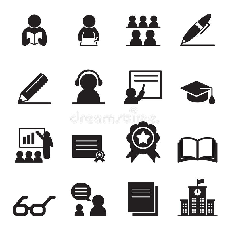 Free Learning Icon Set Stock Images - 72473394