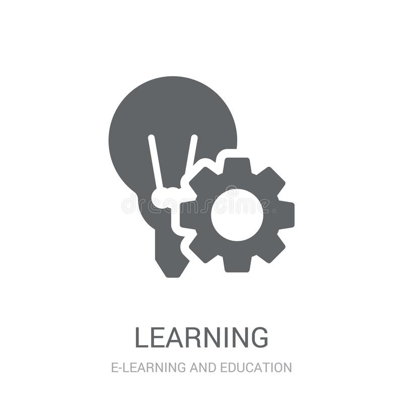 Learning icon. Trendy Learning logo concept on white background vector illustration