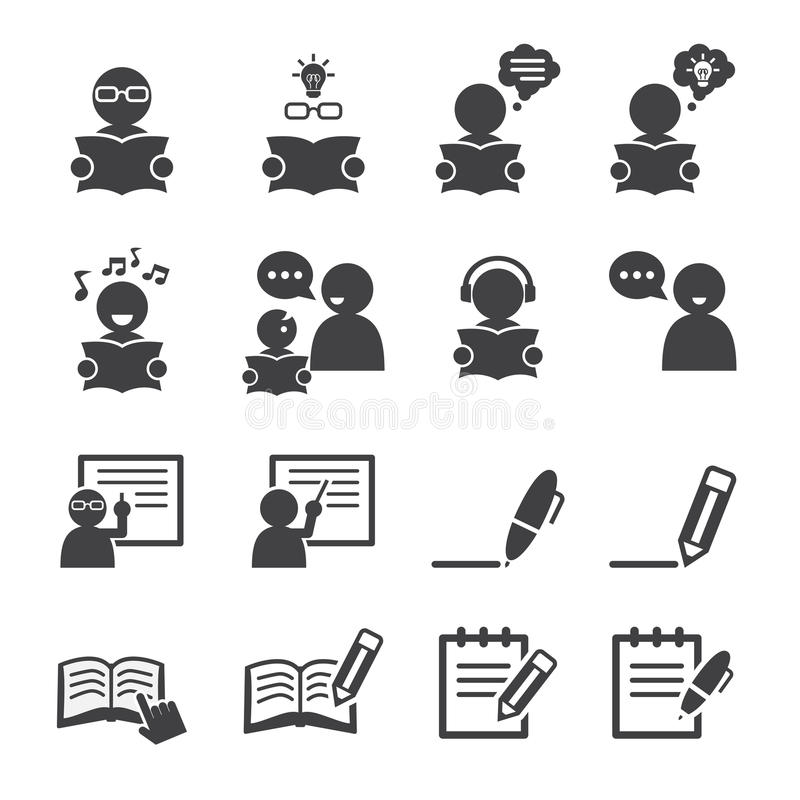Learning icon vector illustration
