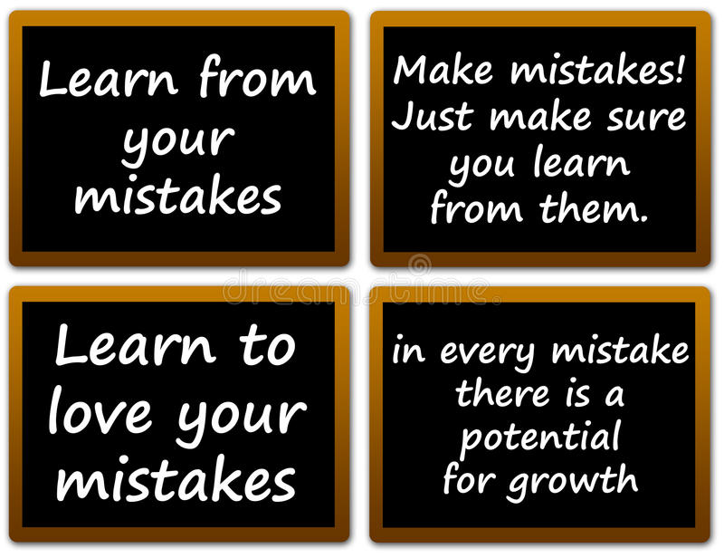 Learning from mistakes vector illustration