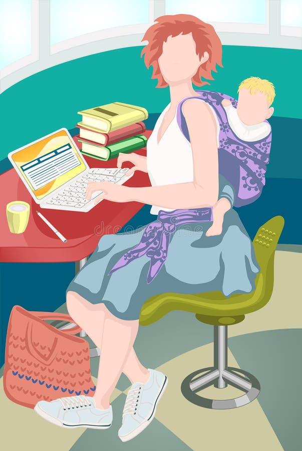 Learning_mum libre illustration