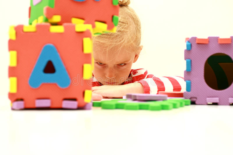 Learning problem royalty free stock photos