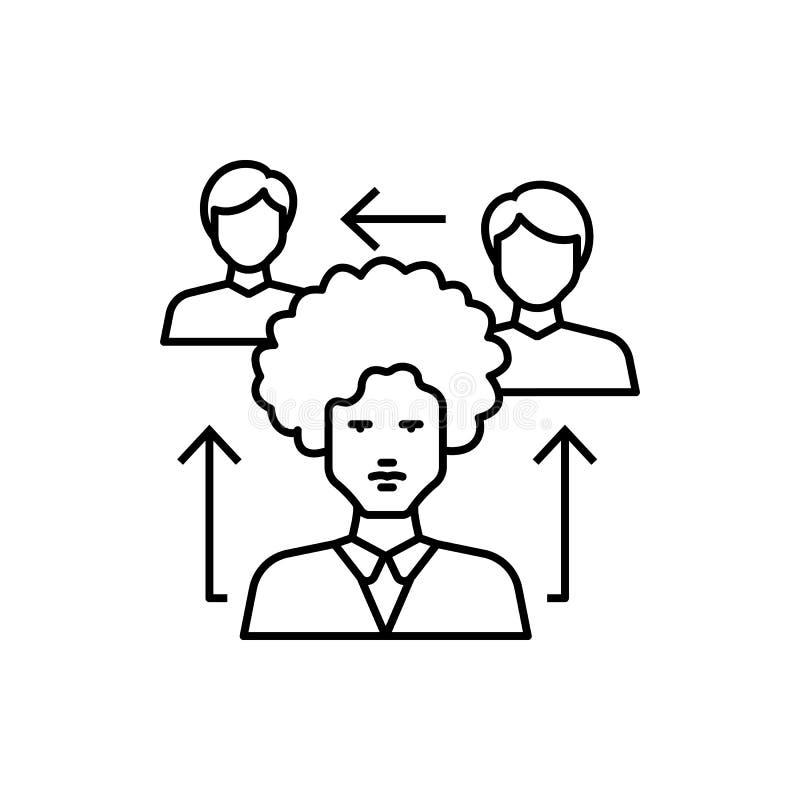 Learning, sharing icon. Element of education line icon. On white background royalty free illustration