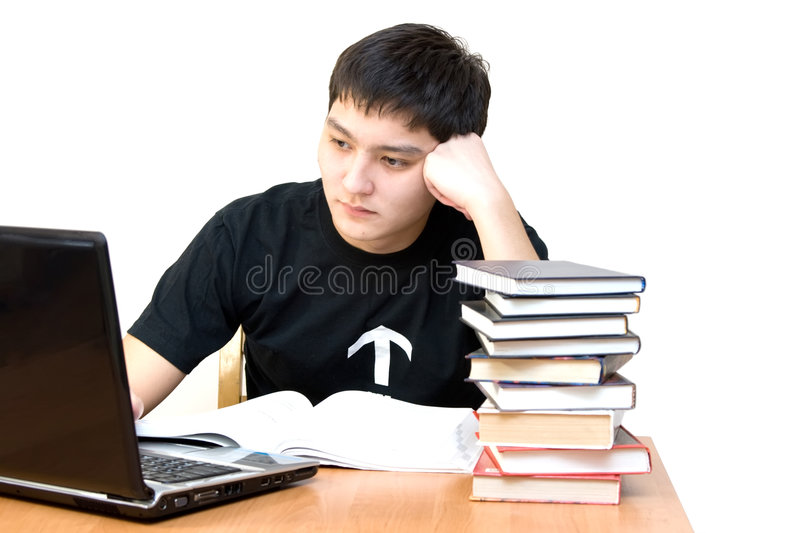 Learning student royalty free stock photo