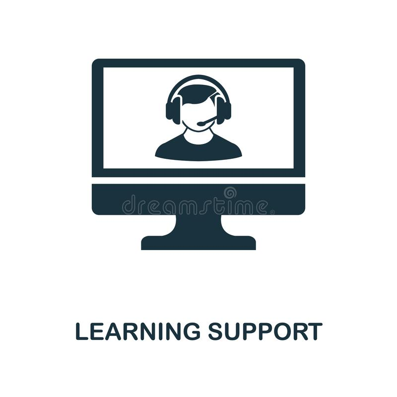 Learning Support creative icon. Simple element illustration. Learning Support concept symbol design from online education collecti royalty free illustration