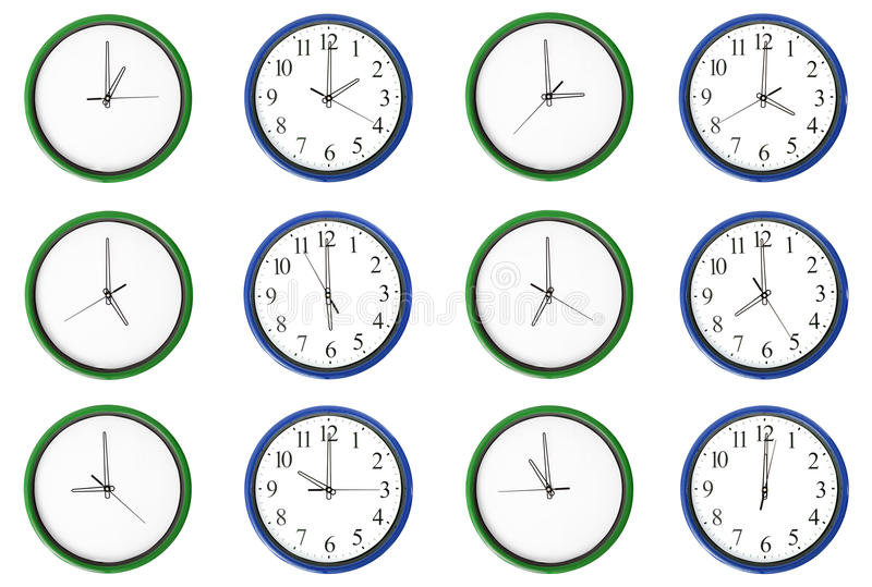 Learning Time - Pair Numbers, Blue. Royalty Free Stock Images