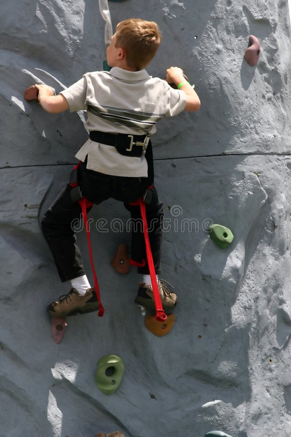 Learning to Climb stock photos