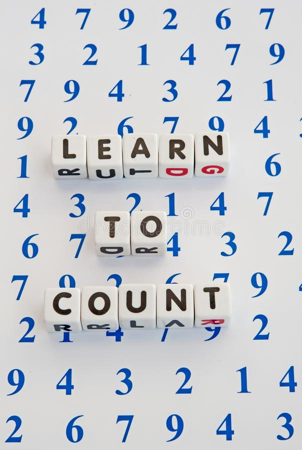 Download Learning to count stock image. Image of learning, text - 110915185