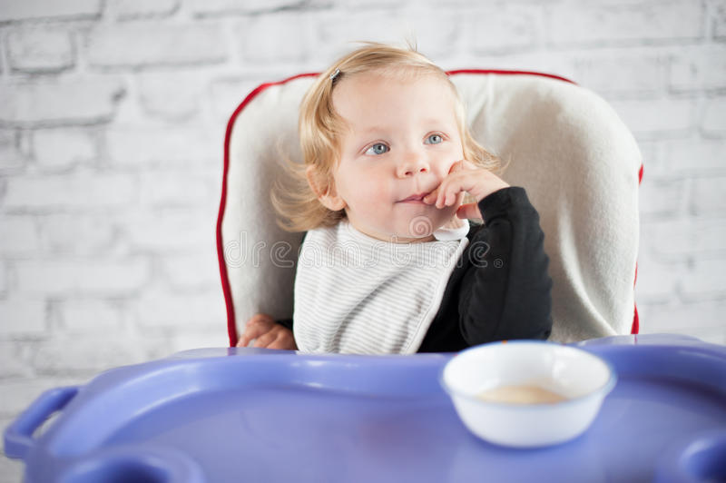 Download Learning to eat stock image. Image of baby, cheerful - 39500253