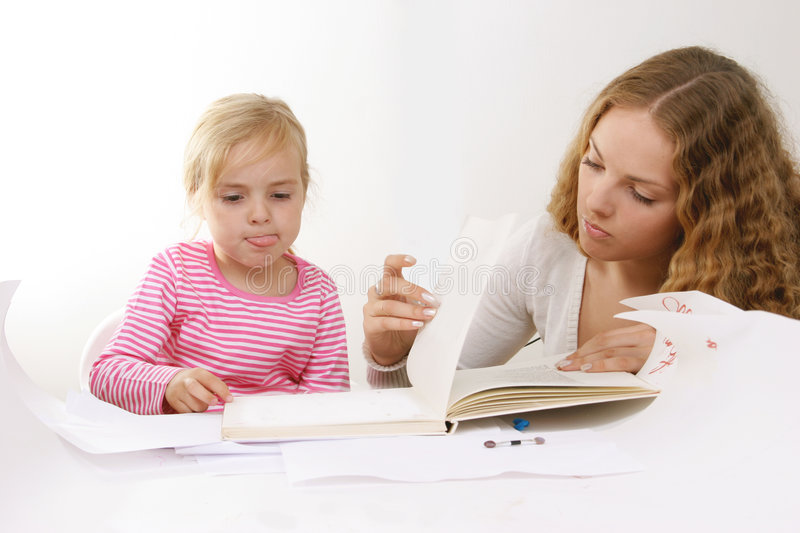 Download Learning to read stock image. Image of person, children - 3693487