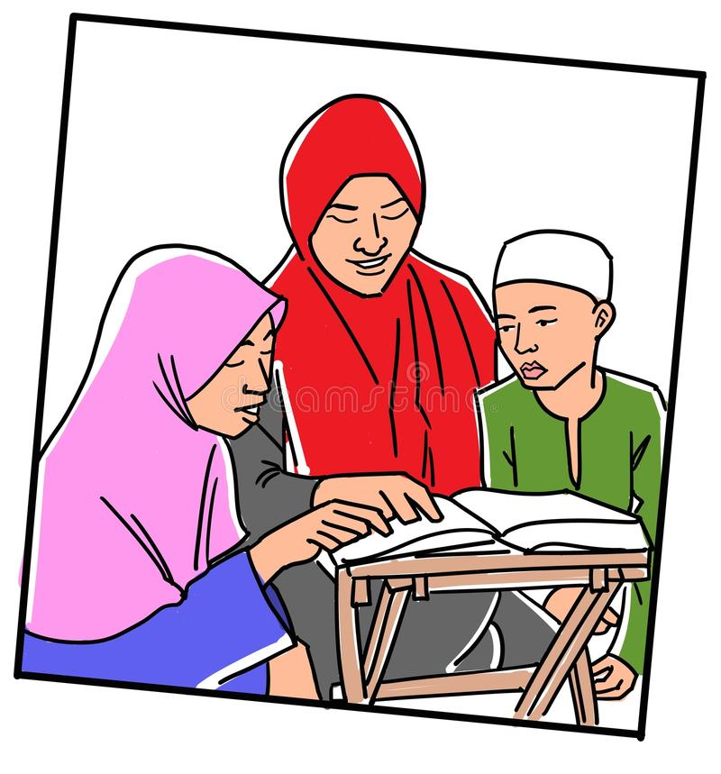 Free Learning To Read Quran Royalty Free Stock Photography - 43786367