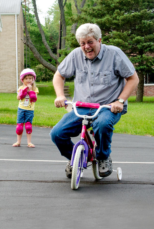 Download Learning To Ride A Bike With Training Wheels Stock Image - Image: 41076957