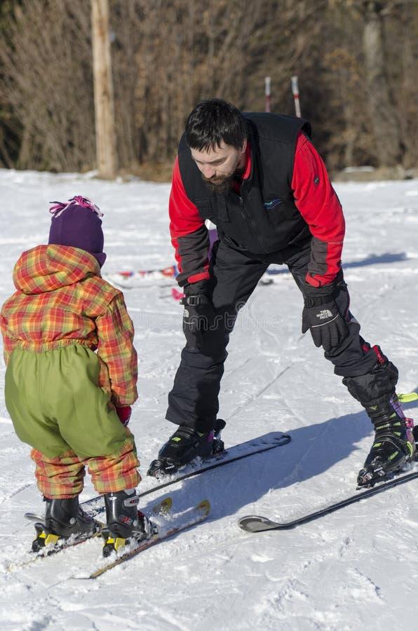 Learning to ski royalty free stock image