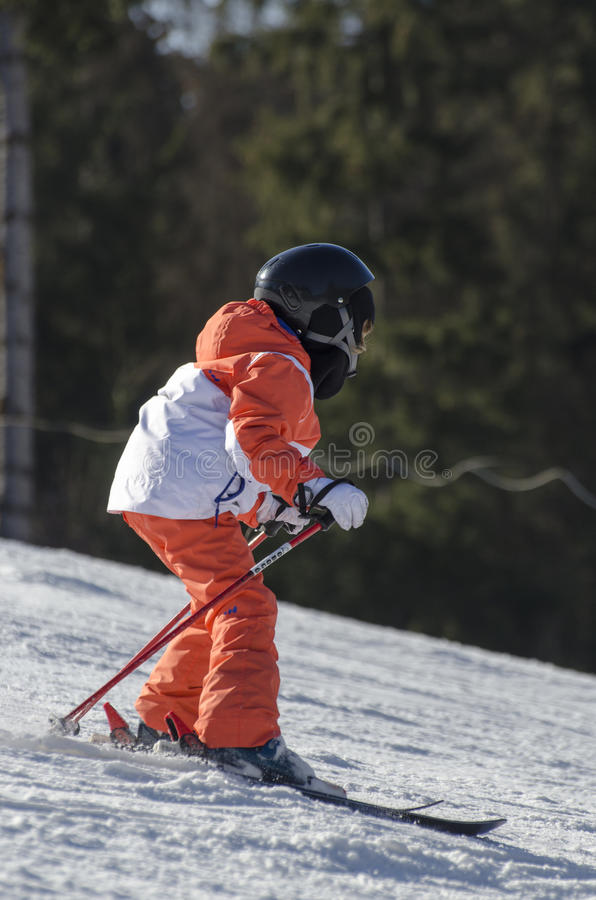 Learning to ski royalty free stock photos