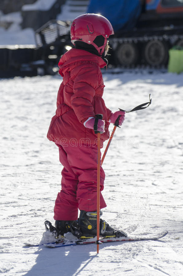 Learning to ski royalty free stock photo