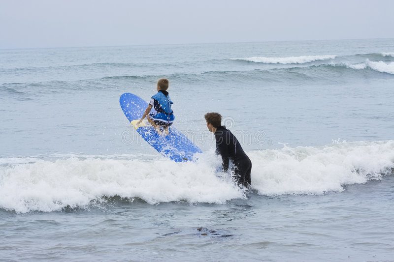 Learning To Surf Royalty Free Stock Photo
