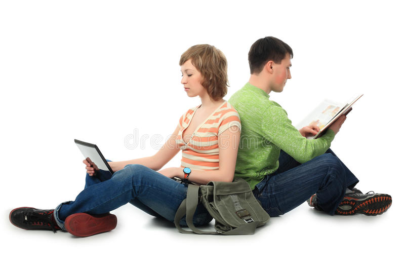 Learning together royalty free stock image