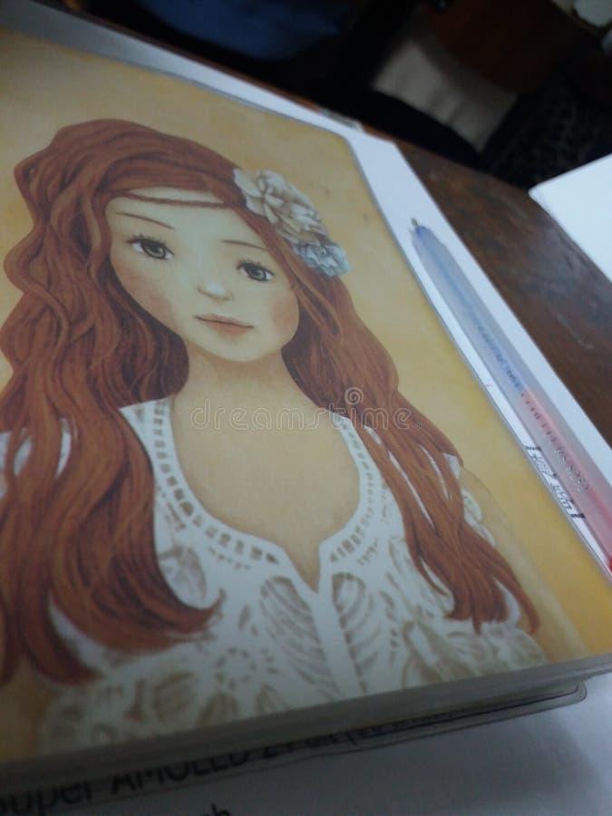 Learnning-Mädchen lizenzfreie stockbilder