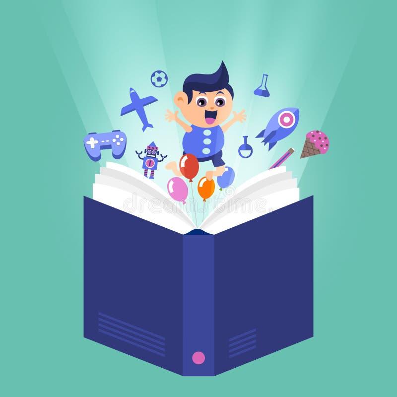 Learnning och utbildning w för barn för begrepp för tecknad filmvektordesign royaltyfri illustrationer