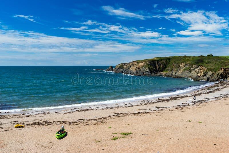 Leas Nożni piaski Plażowy Thurlestone Devon Anglia zdjęcia stock