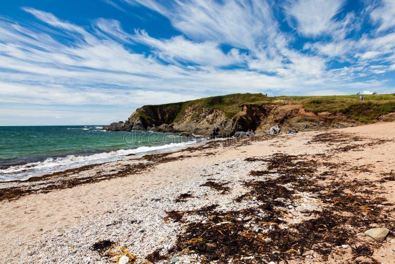 Leas Nożni piaski Plażowy Thurlestone Devon Anglia obrazy royalty free