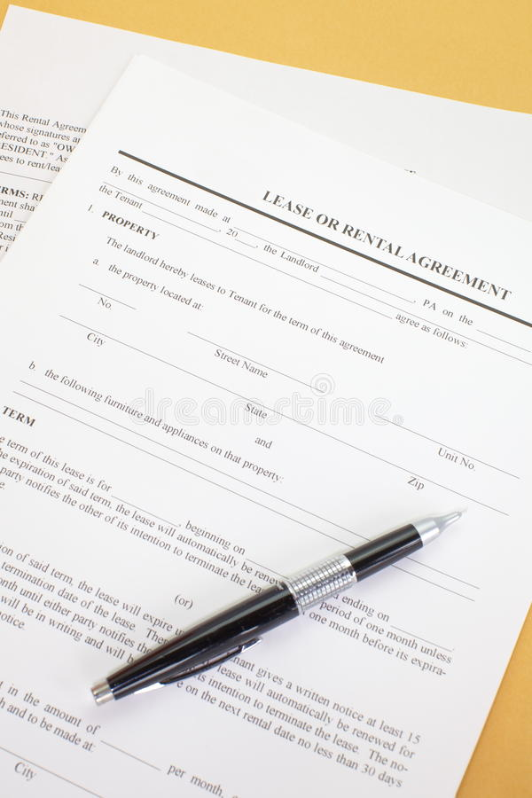 Download Lease agreement stock image. Image of horizontal, mortgage - 32529803