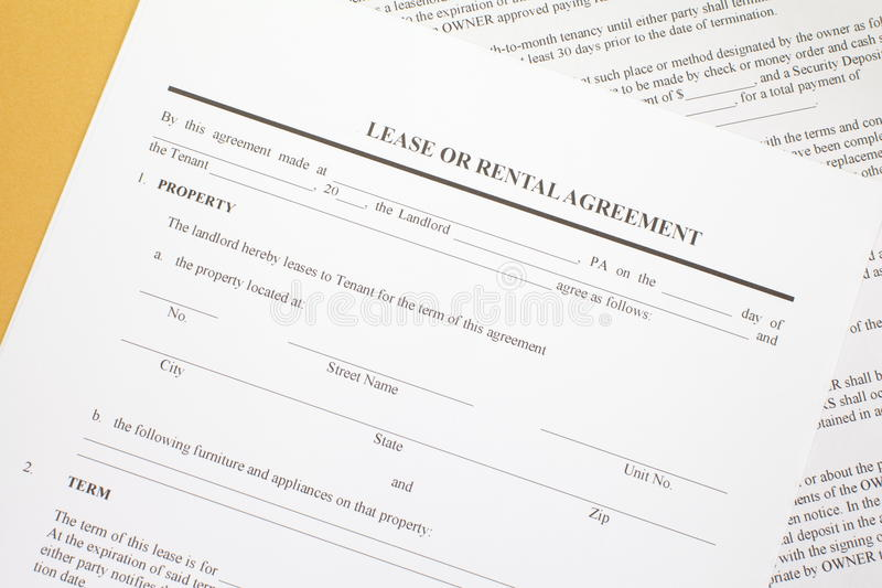 Download Lease Agreement Stock Photo. Image Of Apartment, Contract    32529826  Download Lease