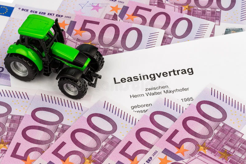 Download Lease Agreement For New Tractor Stock Photo - Image: 29384624