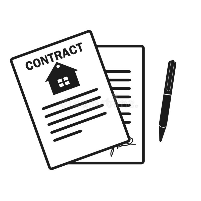Lease Contract Icon. Professional, pixel perfect icons optimized for both large and small resolutions. EPS 10format. stock illustration
