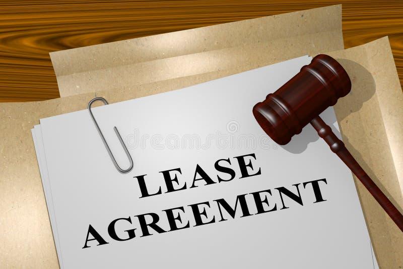 Leasing - concetto legale illustrazione vettoriale