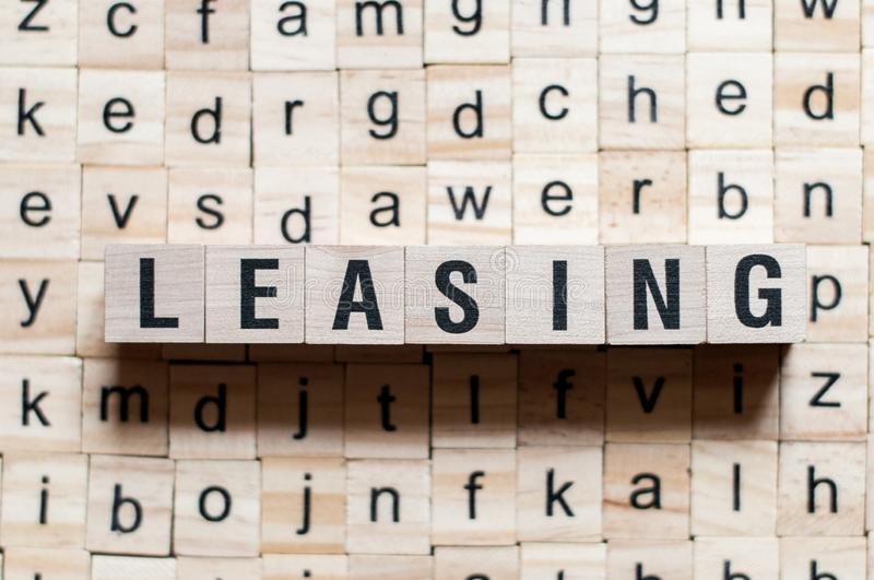 Leasing word concept stock images