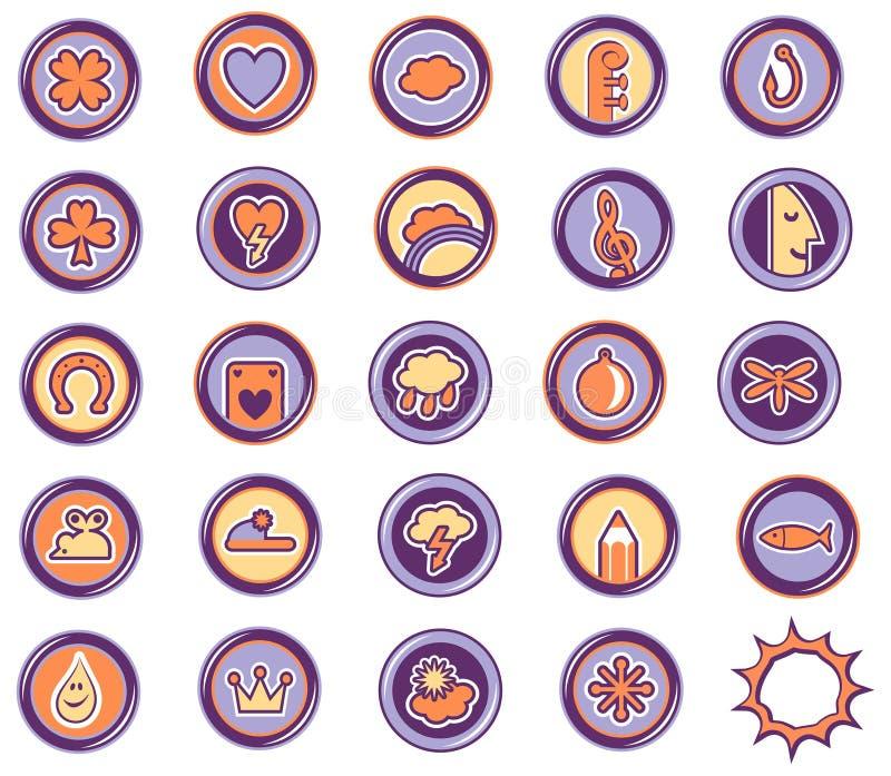 Leasure van pictogrammen royalty-vrije illustratie
