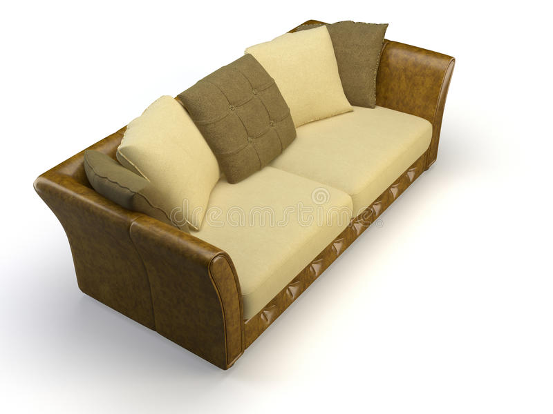 Download Leather 3d sofa stock illustration. Illustration of reclining - 10950232