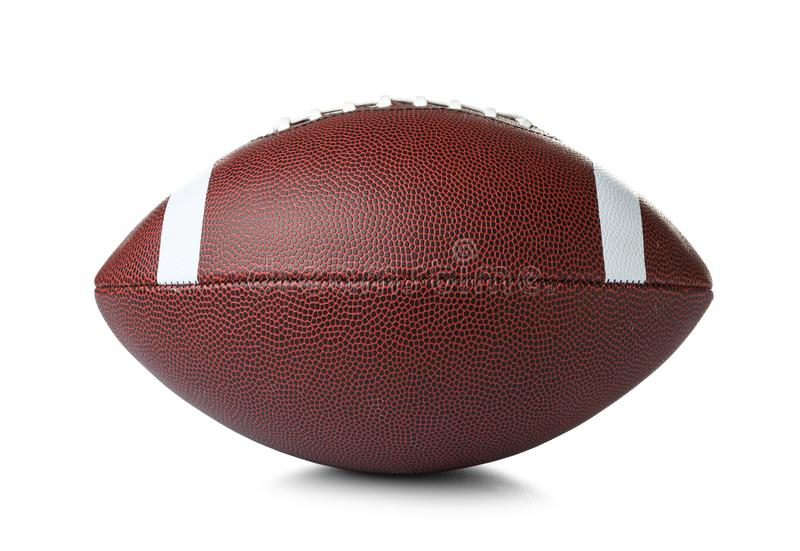 Leather American football bal stock images