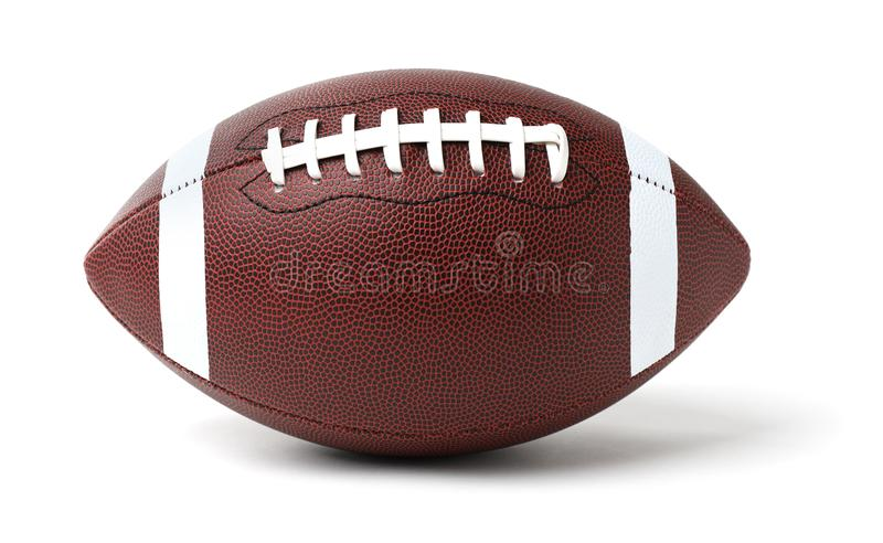 Leather American football ball royalty free stock photos