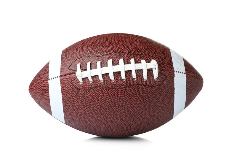 Leather American football ball stock photography
