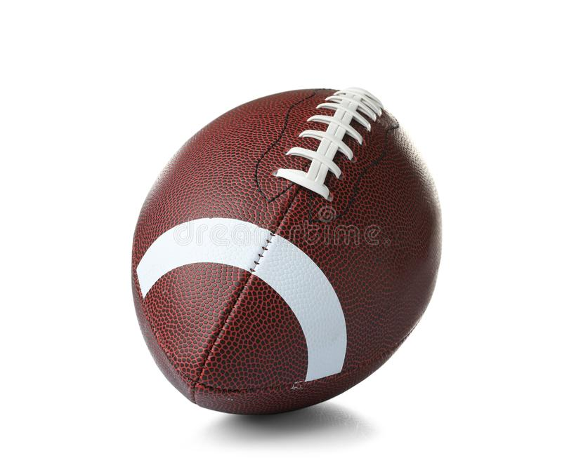 Leather American football ball royalty free stock image