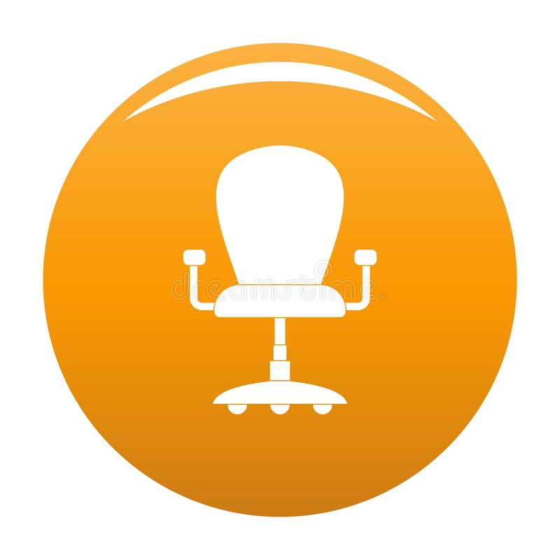 Leather Armchair Icon Vector Orange Stock Vector ...