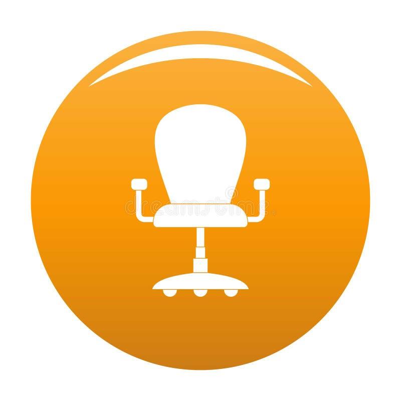 Leather Armchair Icon Vector Orange Stock Vector ...
