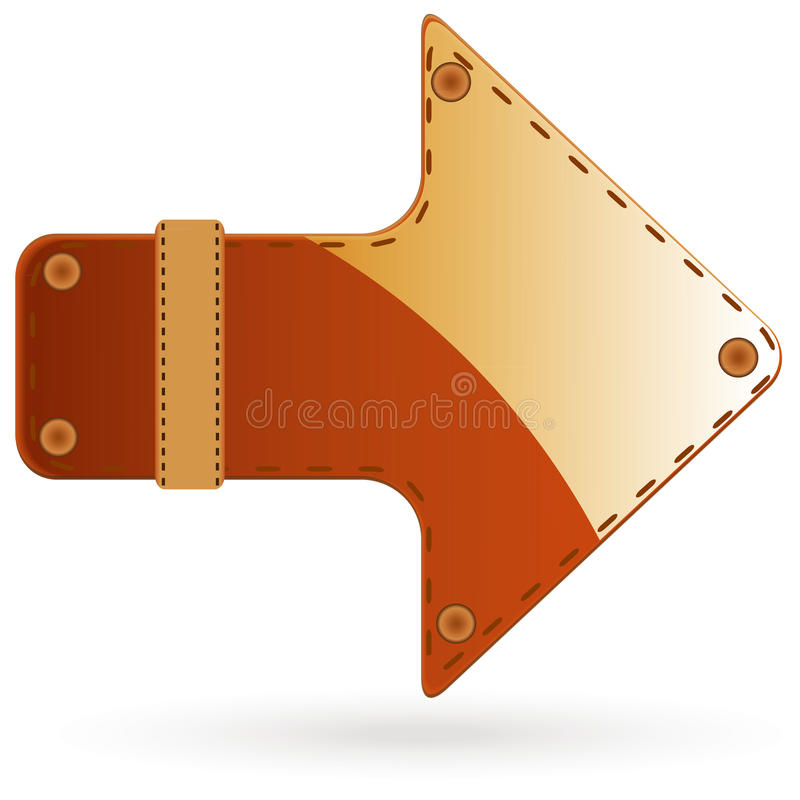 Download Leather arrow stock vector. Image of illustration, shade - 18184216