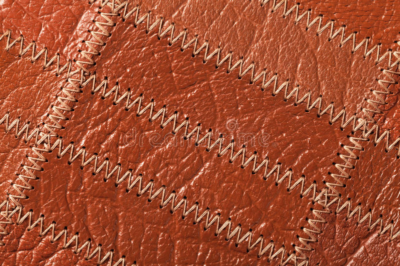 Leather Background. Close up of brown leather texture background. Top view royalty free stock photography