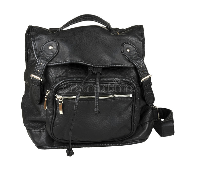 Leather backpack stock photography