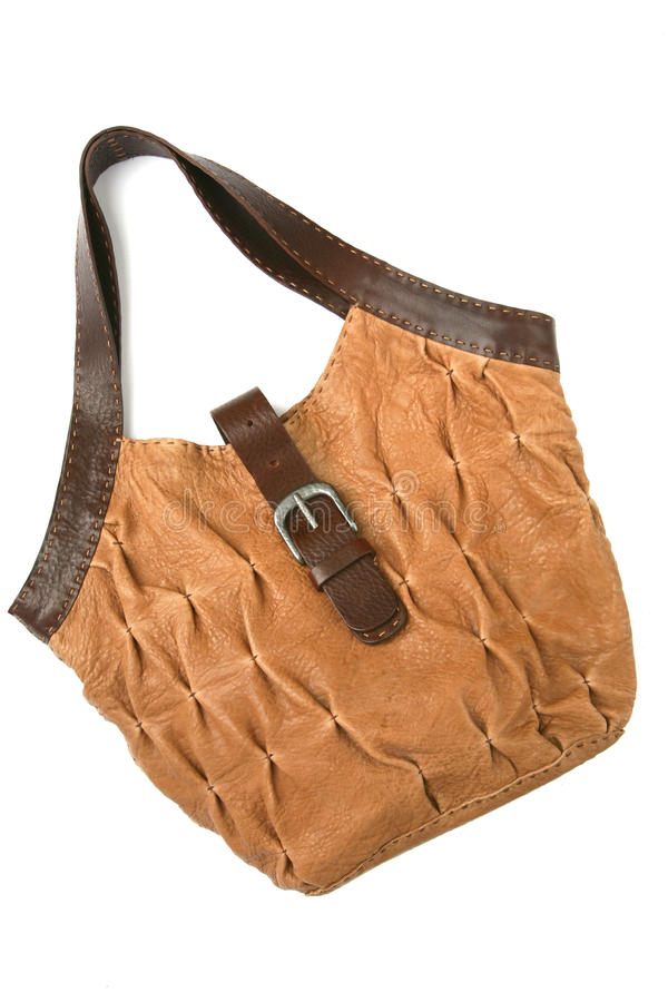 Download Leather bag stock photo. Image of sand, brown, made, object - 11828666