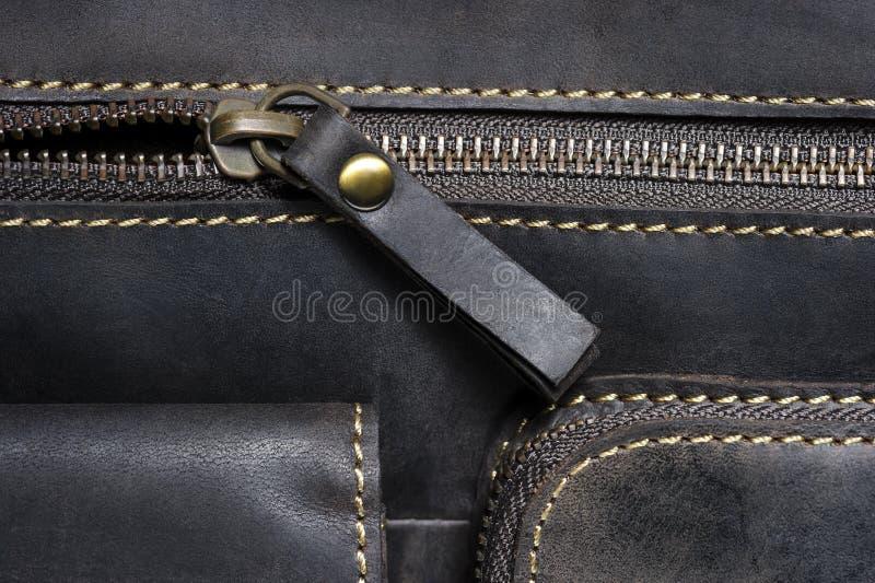 Leather bag detail stock photos