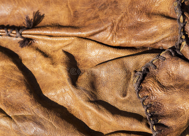 Leather bag texture royalty free stock photography