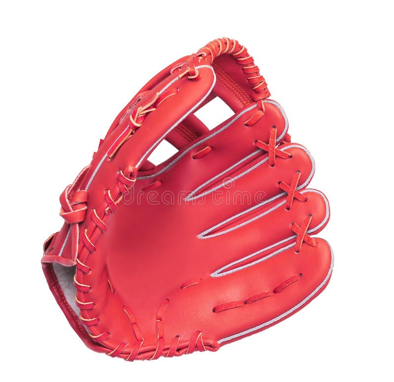 Leather baseball glove stock photo