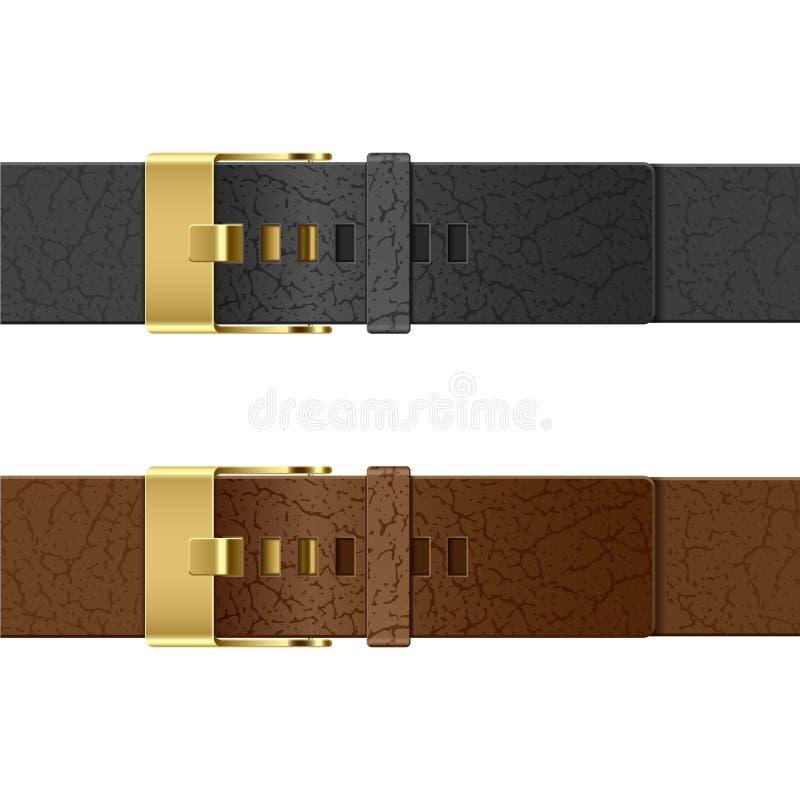Leather belt. Vector illustration of a leather belt stock illustration
